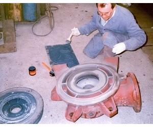 Восстановление внутренней поверхности корпуса насоса перед установкой новой помпы