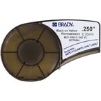 Трубка термоусадочная Brady m21-250-c-342-yl,макс,мм, черный на желтом, 5.5, 11.15x2100 мм