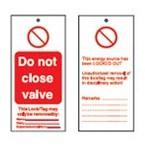 Бирка предупреждающая Brady, «do not operate electrician at work», 50x110 мм, 10 шт