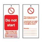 Бирка предупреждающая Brady восклицательный знак, 75x160 мм, «Нет», 10 шт
