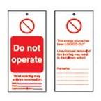 Бирка предупреждающая Brady восклицательный знак, 50x110 мм, «Нет», 10 шт