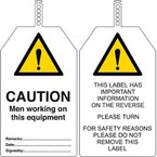 Бирка безопасности Brady в упаковке, «danger radioactive material», 145x85 мм, ПВХ, 10 шт