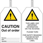 Бирка безопасности do not use out of order Brady бирки,. в упаковке, 145x85 мм, ПВХ, 10 шт
