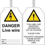 Бирка безопасности tested for electrical safety Brady бирки,. в упаковке, 145x85 мм, ПВХ, 10 шт