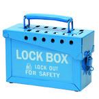 Центр блокировочный групповой Brady * 150, синий, 230x88 мм