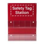 Станция бирочная safety tag station Brady без бирок,надпись на английском, 146x76 мм, Пластик