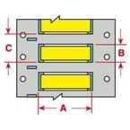 Маркер термоусадочный Brady 3ps-250-2-yl-4, 12.7x11.15 мм, 10000 шт