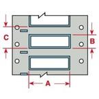 Термоусадочный маркер Brady 3PS-250-2-WT-S-2, 25,4 × 11,15 мм, 1000 шт. в рулоне