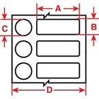 Маркер термоусадочный Brady zhs-2.4x22-b7641-yl