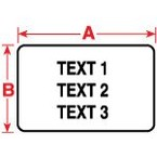 Этикетки Brady PTL-16-426 / 25,4x9,53мм, B-426