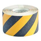 Лента антискольжения Brady Anti-Skid, черно-желтая, 100 мм × 18 м, 1 рулон