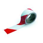 Лента маркировочная напольная Brady прочная для разметки,красно- 1, белая, 50x16500 мм, b-950, Самоклеющийся, Винил, Рулон