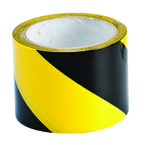 Лента маркировочная напольная Brady прочная для разметки,черно- 1, желтая, 75x16500 мм, b-950, Самоклеющийся, Винил, Рулон