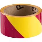 Лента маркировочная напольная Brady прочная для разметки,желто- 1, розовая, 50x16500 мм, b-950, Самоклеющийся, Винил, Рулон