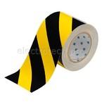 Лента напольная на подложке Brady toughstripe,материал в-514,черно, желтая, 101.6x30000 мм, Полиэстер