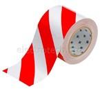 Лента напольная на подложке Brady toughstripe,материал в-514,красно, белая, 101.6x30000 мм, Полиэстер