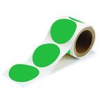 Метки, диаметр 89 мм, зеленые, материал B-514, 100 мм × 30 м, 300 шт. в рулоне