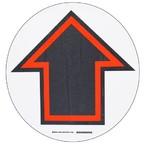 Наполная самоклеющаяся стрелка в рамке, материал В-534, черный и красный на белом, диаметр 431,8 мм