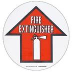 """Наполная самоклеющаяся стрелка в рамке """"EXTIINGUISHER"""", материал В-534, черный и красный на белом, диаметр 431,8 мм"""