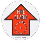 """Наполная самоклеющаяся стрелка в рамке """"FIRE ALARM"""", материал В-534, черный и красный на белом, диаметр 431,8 мм"""