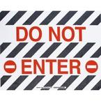 """Наполная самоклеющаяся табличка с надписью """"Do Not Enter"""", материал В-534, цвет черный и зеленый на белом, размер 355,6 мм"""
