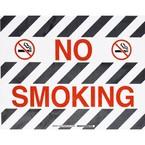 """Наполная самоклеющаяся табличка с надписью """"No Smoking"""", материал В-534, цвет черный и красный на белом, размер 355,6 мм"""