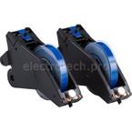 Система LabelizerPlus/VersaPrinter, материал B-595, 13 мм, белый-синий, в рулоне 27 м, 2 шт.