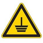 """Запрещающий знак безопасности Brady PIC 201 """"Не пользоваться открытым огнем и не курить"""", B-7541 ламинированный полиэстер, 50 мм, 250 шт. в рулоне"""
