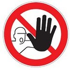 """Предупреждающий знак безопасности Brady PIC 334 """"Возможно травмирование рук """", B-7541 ламинированный полиэстер, 50 мм, 250 шт. в рулоне"""