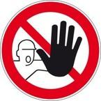 Знак безопасности предупреждающий возможно травмирование рук Brady 100 мм, b-7541, Ламинация, pic 334, Полиэстер, 250 шт