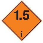Знак маркировки грузов легковоспламеняющиеся при намокании Brady adr 4.3b, 100x100 мм, b-7541, Ламинация, Полиэстер, 1 шт