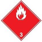 Знак маркировки грузов воспламенение при намокании Brady adr 4.3, 100x100 мм, b-7541, Самоклеющийся, Винил, 250 шт