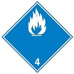 Знак маркировки грузов окислитель Brady adr 5.1, 100x100 мм, b-7541, Самоклеющийся, Винил, 250 шт
