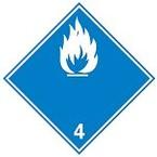 """Знак маркировки грузов Brady ADR 5.2- """"Пероксидные органические соединения"""", B-7541 самоклеющийся винил, сторона 100 мм, 250 шт. в рулоне"""