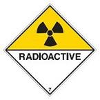 """Знак маркировки грузов Brady ADR 6.2- """"Инфецированное вещество"""", B-7541 самоклеющийся винил, сторона 100 мм, 250 шт. в рулоне"""