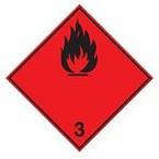 """Знак маркировки грузов Brady ADR 1 """"Взрывоопасные"""", B-7525 алюминиевая пластина, сторона 297 мм, 1 шт."""