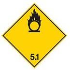 Знак маркировки грузов категория опасности 1.4 Brady adr 1.4rl, 100x100 мм, b-7541, Ламинация, Полиэстер, 250 шт