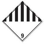 "Знак маркировки грузов Brady ADR 1.6 ""Категория опасности 1.6"", B-7525 алюминиевая пластина, сторона 297 мм, 1 шт."