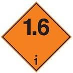 Знак маркировки грузов легковоспламеняющиеся при намокании Brady adr 4.3brl, 100x100 мм, b-7541, Ламинация, Полиэстер, 250 шт