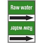 Ленты самоклеящиеся Brady двухцветные с текстом и стрелкой направления потока, зеленый на оранжевом, «lubricating oil», 127x33000 мм, b-7541
