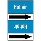 Ленты самоклеящиеся Brady двухцветные с текстом и стрелкой направления потока, синий на красном, «fire fighting fresh water», 127x33000 мм, b-7541