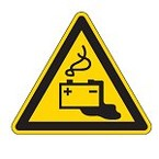 Знак безопасности предупреждающий осторожно скользко Brady 25 мм, b-7541, Ламинация, pic 324, Полиэстер, 250 шт