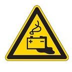 Знак безопасности предупреждающий внимание малозаметное препятствие Brady 25 мм, b-7541, Ламинация, pic 325, Полиэстер, 250 шт