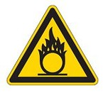 Знак безопасности предупреждающий возможно травмирование рук Brady 25 мм, b-7541, Ламинация, pic 349, Полиэстер, 250 шт