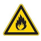 Знак безопасности предупреждающий опасность поражения работающим погрузчиком Brady 50 мм, b-7541, Ламинация, pic 306, Полиэстер, 250 шт