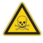Знак безопасности предупреждающий возможность опрокидывания Brady 50 мм, b-7541, Ламинация, pic 319, Полиэстер, 250 шт