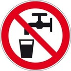 Знак безопасности запрещающий запрещается пользоваться лифтом для подъема людей Brady 100 мм, b-7541, Ламинация, pic 216, Полиэстер, 250 шт