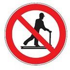 Знак безопасности запрещающий запрещается принимать пищу Brady 100 мм, b-7541, Ламинация, pic 224, Полиэстер, 250 шт