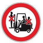 Знак безопасности запрещающий запрещается загромождать проходы и складировать Brady 25 мм, b-7541, Ламинация, pic 208, Полиэстер, 250 шт