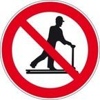 Знак безопасности запрещающий запрещение (прочие опасности или опасные действия) Brady 25 мм, b-7541, Ламинация, pic 234, Полиэстер, 250 шт